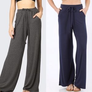 MUST HAVE Softest Casual Pants - NAVY/CHARCOAL